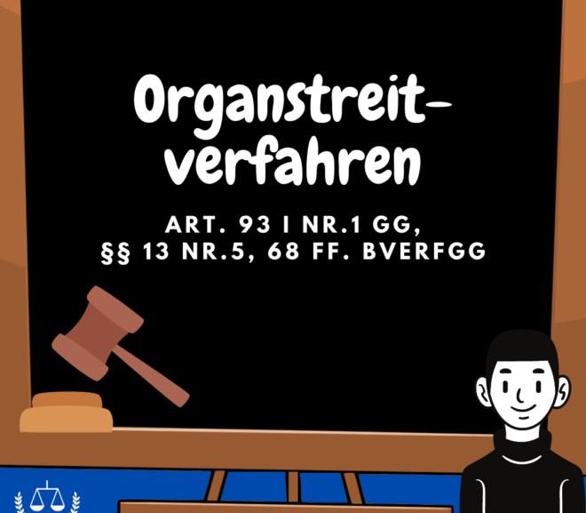 Organstreitverfahren · Art. 93 I Nr.2 GG, §§ 13 Nr.6, 76 ff. BVerfGG · Staatsrecht